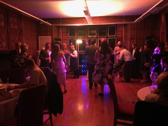Guests dancing in the Jacobean Suite